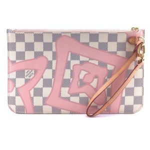 Neverfull Pochette Wristlet Cosmetic Canvas Clutch